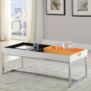 Orren Ellis Soren Coffee Table with Tray Top