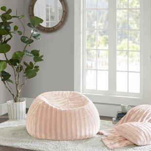 White Faux Fur Bean Bag Chair   Wayfair