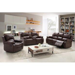 Kornegay Reclining 3 Piece Living Room Se..