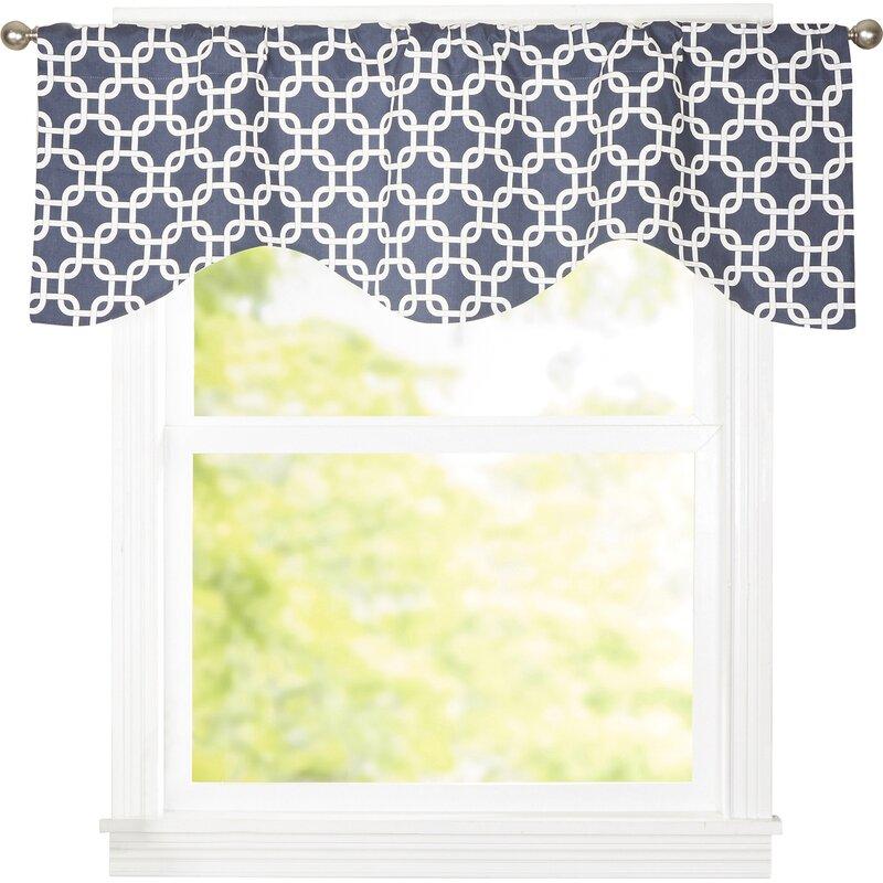 Zipcode Design Burford Interlocking Cornice 50 Curtain Valance Reviews Wayfair