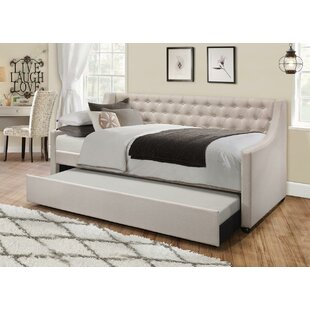 Best Price Jabari Upholstered Twin Daybed with Trundle by Charlton Home Reviews (2019) & Buyer's Guide
