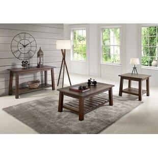 Gracie Oaks Kingsbury 3 Piece Coffee Table Set