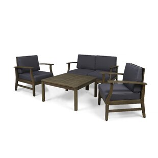 Bridgers Outdoor 5 Piece Sofa Seating Group with Cushions