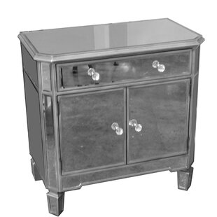 Rickey Glass 3 Drawer Accent Cabinet By Everly Quinn