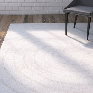 Marketfield Soft Swirly Shag White Area Rug By Wrought Studio