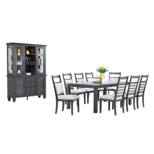 Middlebury 11 Piece Solid Wood Dining Set Red Barrel Studio