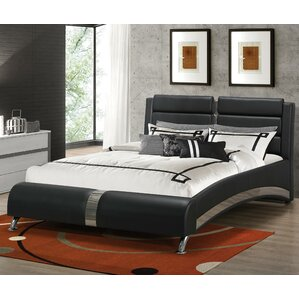 Mallory Upholstered Platform Bed by Wade Logan