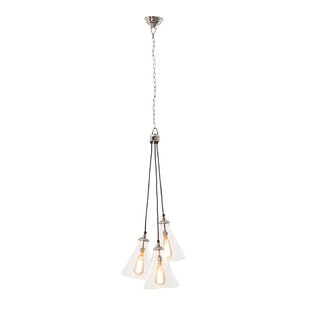 Demartino 3-Light Cluster Pendant by Williston Forge