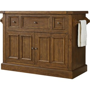 Christopher Kitchen Island With Marble Top. Moroccan Pine Rustic Mahogany