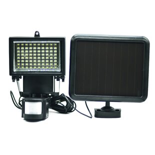 Elegant Home Fashions Security LED Solar Powered Battery Operated Flood Light with Motion Sensor