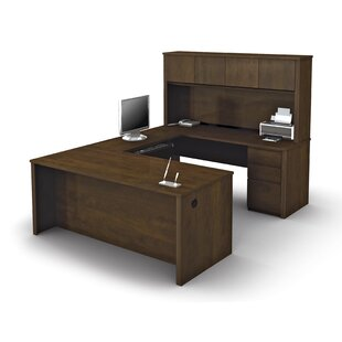 Menke U-Shape Executive Desk with Hutch by Red Barrel Studio