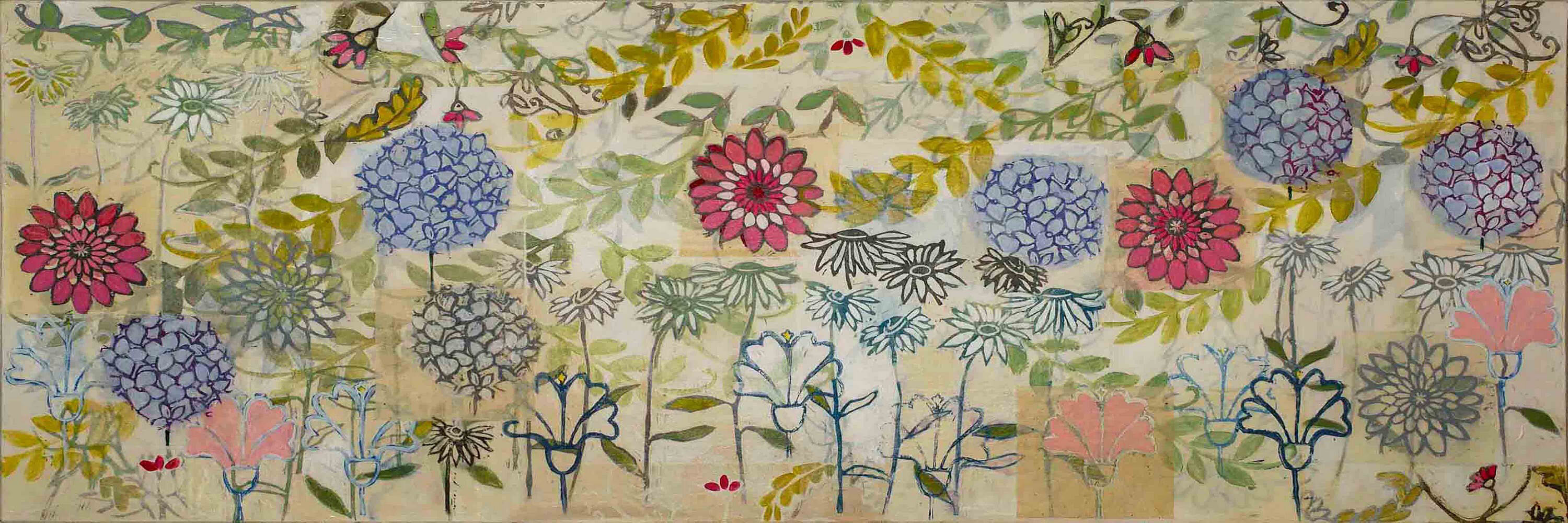 Gardens By Maria: Marmont Hill 'Spring Garden' By Maria Pezzano Painting