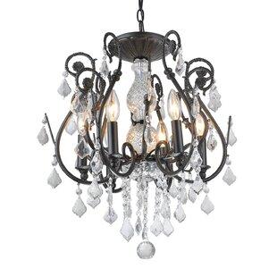 House of Hampton Gatsby 6-Light Crystal Chandelier