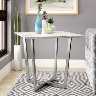 Compare prices Rosenbalm Faux Marble End Table By Brayden Studio