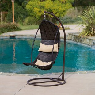 Bayou Breeze Heyward Wicker Swing Chair with Stand