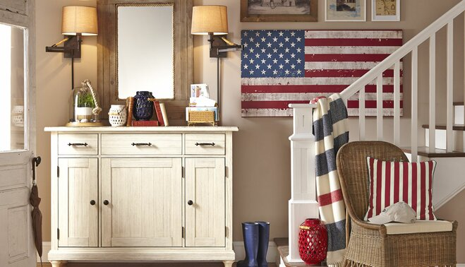 Get the Look: Clic Americana | Wayfair Americana Home Design on alternative home design, roots home design, 80s home design, furniture home design, experimental home design, nature home design, indie home design, nautical home design, western home design, elephant home design, glam home design, weathered home design, 1940's home design, 50s home design, vintage home design, pop home design, american indian home design, baroque home design, christmas home design, art home design,