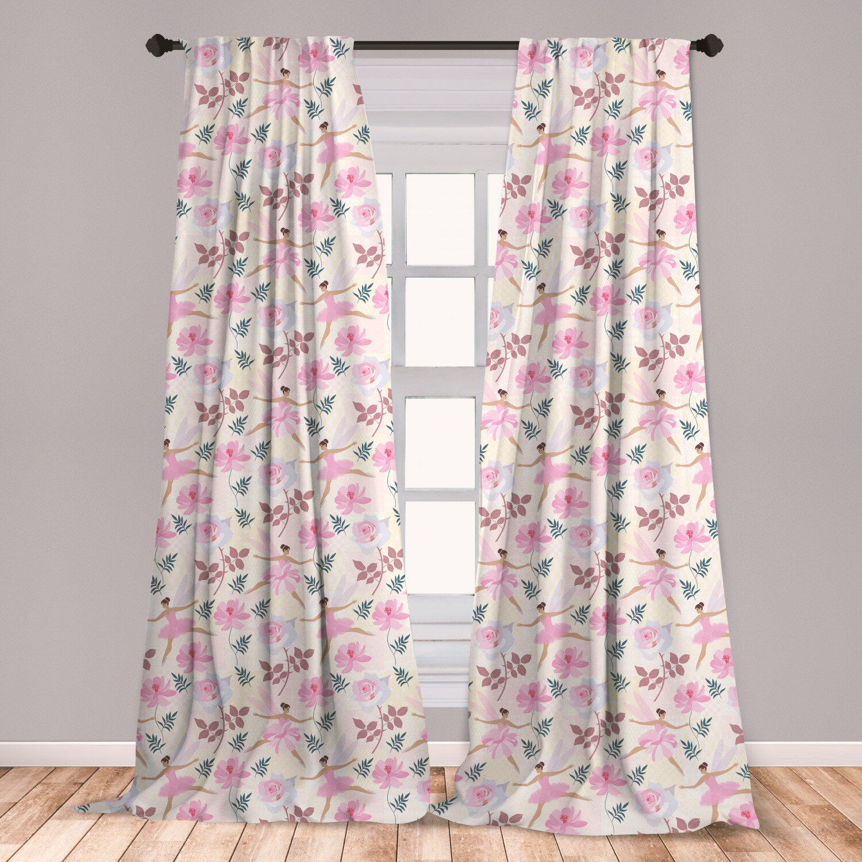 East Urban Home Ballerina Floral Room Darkening Rod Pocket Curtain Panels Wayfair