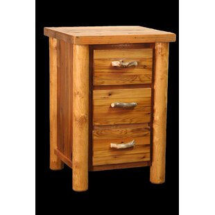 Jorgensen 3 Drawer Nightstand by Loon Peak