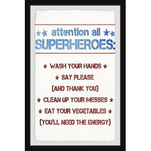 Jadon Superhero House Rules Framed Art by Viv   Rae