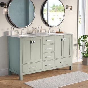 Ankney 60 Double Sink Bathroom Vanity by Brayden Studio