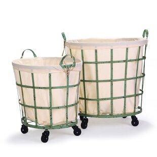 Bargain 2 Piece Round Rolling Laundry Set ByAdeco Trading