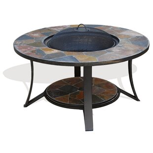 Arizona Sands Stainless Steel Wood Burning Fire Pit Table by Deeco Modern