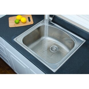 Chicago Series 25 L X 22 W D Shaped Topmount Kitchen Sink