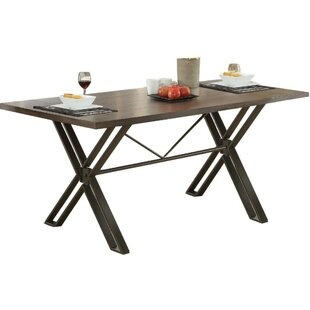 Calzada Modern Solid Wood Dining Table Williston Forge