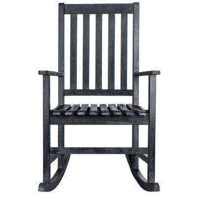 Barstow Teak Rocking Chair Finish: Dark Slate Gray by Alcott Hill