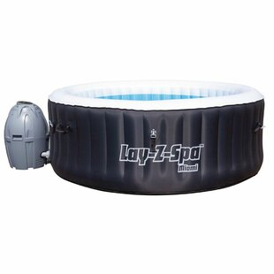 Check Price Lay-Z-Spa Miami 4-Person 81-Jet Inflatable Plug And Play Whirlpool Spa