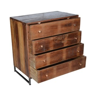 Locking 4 Drawer Standard Dresser/Chest by Millwood Pines