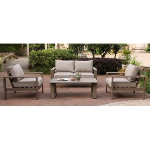 Orren Ellis Otega 4 Piece Sofa Set with Cushions