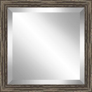 Union Rustic Square Distressed Wooden Beveled Plate Accent Mirror