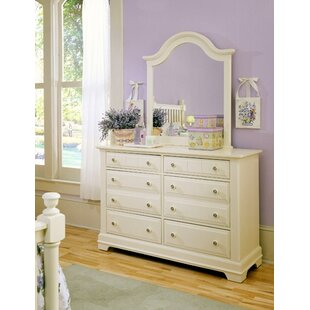 Marquardt 6 Drawer Double Dresser with Mirror