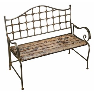 Bird Wrought Iron Garden Bench