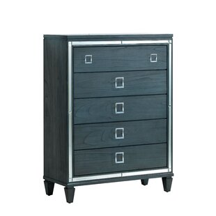 Mercer41 Heiner Contemporary 5 Drawer Standa..