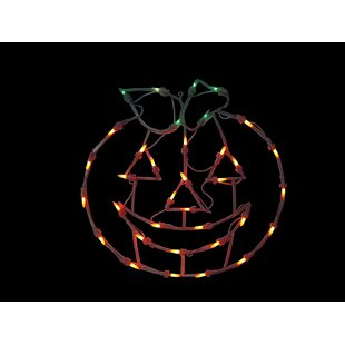 14 Pumpkin Window Silhouette Decoration Lighted Display by The Holiday Aisle