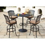 Thompson 5 Piece Bar Height Dining Set with Cushions