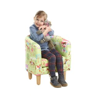 Fincher Animal Camp Ponies Children's Club Chair By Zoomie Kids