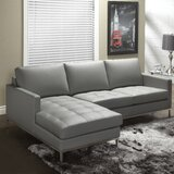 Corniche 115 Genuine Leather Sofa & Chaise by Orren Ellis