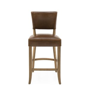 Brennen Bar Chair Leather By Brambly Cottage