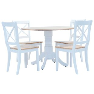 Brann Dining Set With 4 Chairs By Brambly Cottage