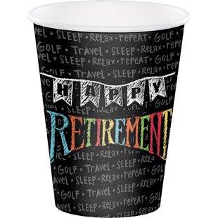 Retirement Chalk Paper Disposable Cup (Set of 24)