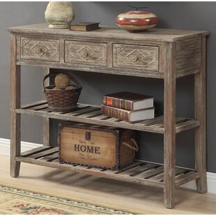Warne 3 Drawer Console Table By August Grove