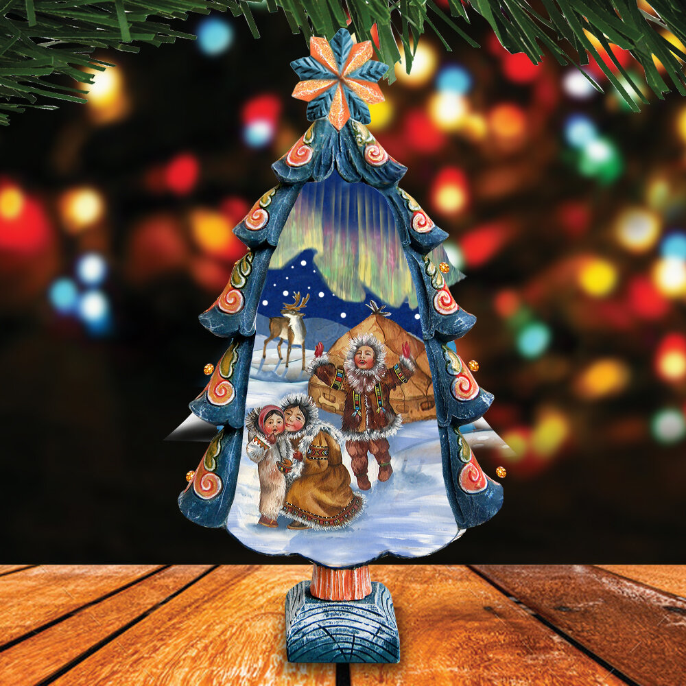 The Holiday Aisle Fifield Northern Lights Tree Figurine Derevo Collection Wayfair