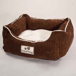Corduroy Pet Bed with Removable Pillow By Pet Soft Things