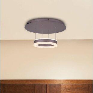 Orren Ellis Evelyn White Color-Changing LED 1-Light Semi Flush Mount