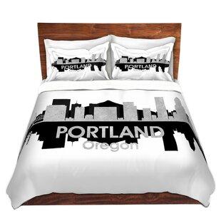 East Urban Home City IV Portland Oregon Duvet Set