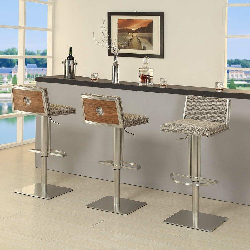 Adjustable Height Swivel Bar Stool & AC Pacific Adjustable Height Swivel Bar Stool u0026 Reviews | Wayfair islam-shia.org