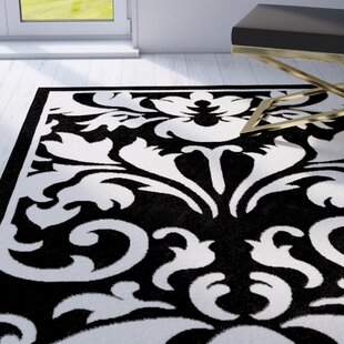Medici Hand Tufted Black White Area Rug